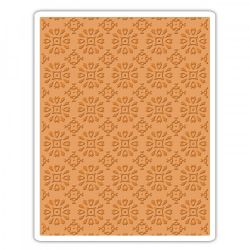 662391 Sizzix Texture Fades Embossing Folder - Rosettes By Tim Holtz